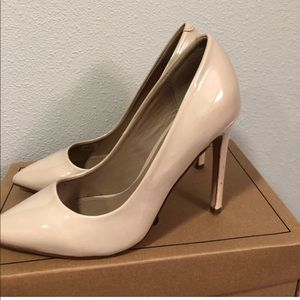 ASOS Nude Playful Wide Fit Pointed Heels
